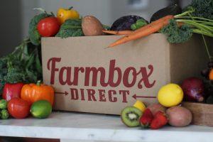 Farm box veg box with fruit